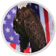 American Honor Round Beach Towel