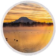 American Lake 2010 Round Beach Towel