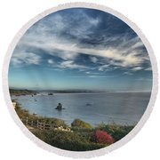 American Light Round Beach Towel
