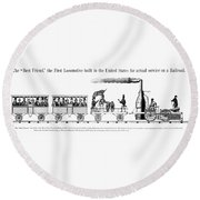 American Locomotive, 1830 Round Beach Towel