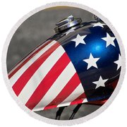 American Motorcycle Round Beach Towel