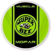 American Muscle - Mopar Round Beach Towel