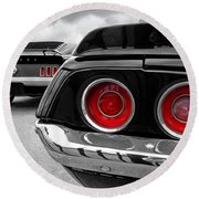 American Muscle Round Beach Towel by Gill Billington