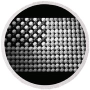 American Pastime In Black And White1 Round Beach Towel