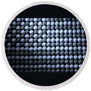 American Pastime In Cyan Round Beach Towel