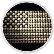 American Pastime In Sepia Round Beach Towel