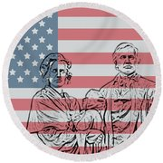 American Patriots Round Beach Towel
