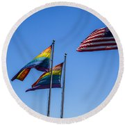 American Pride Round Beach Towel