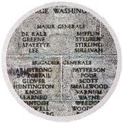 American Revolutionary War Generals Round Beach Towel