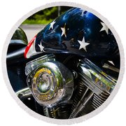 American Ride Round Beach Towel
