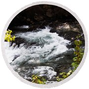 American River's Levels Round Beach Towel