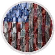 American Sacrifice Round Beach Towel