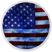 American Sky Round Beach Towel