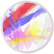 American Sunrise Round Beach Towel
