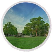 American University Quad Round Beach Towel