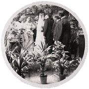 American Wedding, 1900 Round Beach Towel