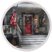 Americana - A Tribute To Rockwell - Westfield Nj Round Beach Towel