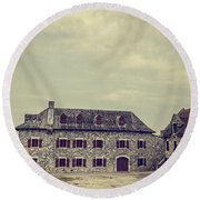 Fort Ticonderoga Round Beach Towel