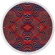 Americana Swirl Design 7 Round Beach Towel