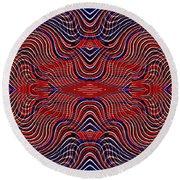Americana Swirl Design 9 Round Beach Towel