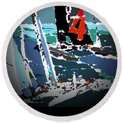 America's Cup 2013 Poster Round Beach Towel