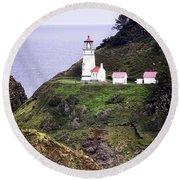America's Favorite Lighthouse Round Beach Towel