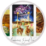 America's Great Venues Round Beach Towel