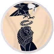 America's Tribute To Britain Round Beach Towel