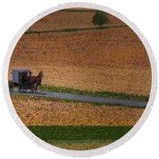 Amish Country Lancaster Pennsylvania Round Beach Towel