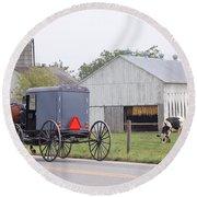 Amish Country Round Beach Towel