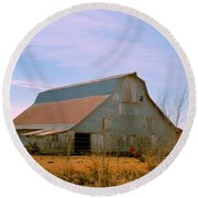 Amish Metal Barn Round Beach Towel