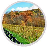 Amish Vinyard Two Round Beach Towel