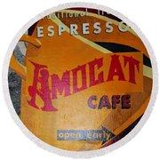 Amocat Cafe Round Beach Towel