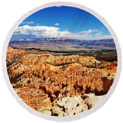 Among The Canyon Round Beach Towel