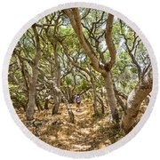 Among The Trees - The Mysterious Trees Of The Los Osos Oak Reserve Round Beach Towel
