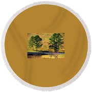 Among The Trees Round Beach Towel