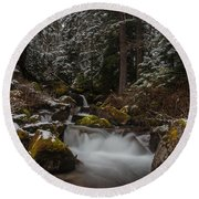 Amongst The Trees And Stones Round Beach Towel