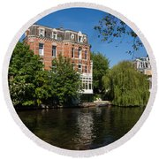 Amsterdam Canal Mansions - Floating By Round Beach Towel