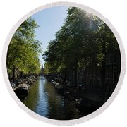 Amsterdam Spring - Green Sunny And Beautiful Round Beach Towel