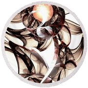 Amulet Of Chaos Round Beach Towel