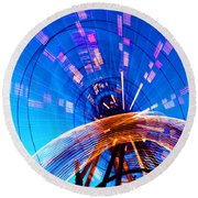 Amusement Park Rides 1 Round Beach Towel