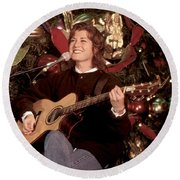 Amy Grant Round Beach Towel