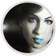 Amy 'n' Blues Round Beach Towel