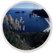 An Aerial View Of The Ocean, New Round Beach Towel
