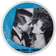 An Affair To Remember Round Beach Towel