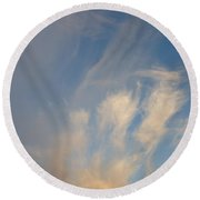 An Angel Appeared Round Beach Towel