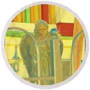 An Angel For An Angel Round Beach Towel