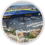 An Angel Over Baltimore Round Beach Towel