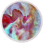 An Angels Love Round Beach Towel