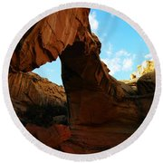 An Arch At Capital Reef Round Beach Towel